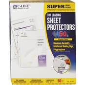 C-Line Super Heavyweight Polypropylene Sheet Protector 50 Pk