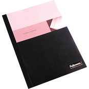 Fellowes Thermal Binding System Covers, 11 in. x 8 1/2 in. Clear/Black 10 pk.