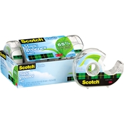 Scotch Magic Greener Tape, 3/4 in. x 600 in. Rolls 6 pk., and Refillable Dispenser