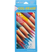 Prismacolor Col-Erase Colored Woodcase Pencils with Eraser, Assorted 24 pc. Set