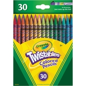 Crayola Twistables Colored Pencils, Assorted Colors 30 pc. Set