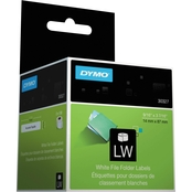 Dymo LabelWriter 1-Up File Folder Labels, 9/16 in. x 3 7/16 in. White 2 Roll Pack