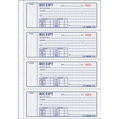 Rediform Money Receipt Book, 2 3/4 in. x 7 in. Carbonless Triplicate 100 Sets/Book