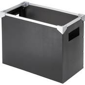 Pendaflex Poly Desktop Storage Box, Letter Size Black