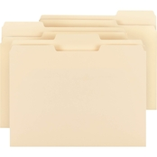 Smead WaterShed/CutLess File Folders, 1/3 Cut Top Tab, Letter, Manila, 100 ct.