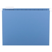 Smead Hanging File Folders, 1/5 Tab, 11 Point Stock, Letter, Blue, 25 ct.