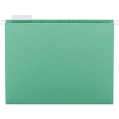 Smead Hanging File Folders, 1/5 Tab, Letter, Bright Green, 25 ct.
