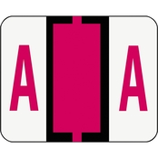 Smead A-Z Color Coded Bar Style End Tab Labels, Letter A, Red, 500/Roll