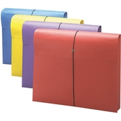 Smead 2 in. Expanding Antimicrobial File Wallet, Letter, Four Colors, 4 pk.
