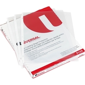 Universal One Top Load Poly Sheet Protectors, Heavy Gauge, Nonglare, Clear 50 ct.
