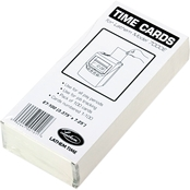 Lathem Time Time Card for Lathem Model 7000E, Numbered 1-100, Two Sided, 100 pk.