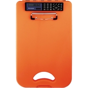 Saunders DeskMate II with Calculator, Hi Vis Orange