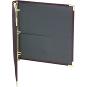 Samsill Classic Collection Zipper Ring Binder, 11 in. x 8 1/2 in. Burgundy