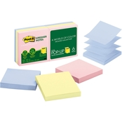 Post-it Greener Recycled Pop-Up Notes Refill, 3 in. x 3 in. 100 Sheet Pads 6 pk.