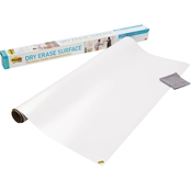 Post-it Dry Erase Surface with Adhesive Backing, 72 in. x 48 in. White