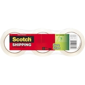 Scotch Sure Start Packaging Tape, 1.88 in. x 54.6 yd. Clear Rolls 3 pk.