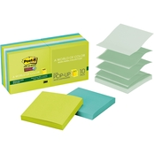 Post-it Super Sticky Recycled Pop-up Notes, 3 in. x 3 in. 90 Sheet Pads 10 pk.