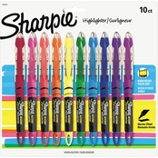 Sharpie Accent Liquid Pen Style Highlighter, Assorted Colors, 10 Pc. Set