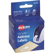 Avery Thermal Printer Labels, Address, 1 1/8 In. x 3 1/2 In., White, 260 Labels/Box