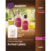 Avery Textured Arched Print-to-the-Edge Labels, 3 in. x 2 1/4 in. White 90 pk.