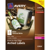 Avery Textured Arched Print-to-the-Edge Labels 40 Pk.