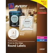Avery Round Print-to-the-Edge Labels 90 Pk.