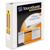 Avery Touchguard Antimicrobial View Binder with 2 in. Slant Rings, White