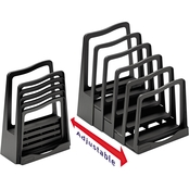 Avery Adjustable File Rack with Five Sections, Black