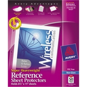 Avery Letter Size Super Heavyweight Top Load Sheet Protectors 50 Pk., Non Glare
