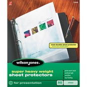 Wilson Jones Super Heavy Weight Clear Sheet Protectors 50 Pk.