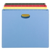 Smead 3.5 in. Capacity Hanging File Pockets, Letter Size, Assorted Colors, 4 pk.