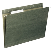 Universal One 1/5 Tab Hanging Legal File Folder, Standard Green, 25 pk.