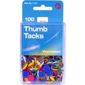 Avantix Vinyl-Coated Thumb Tacks 100 ct.