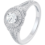 Patriot Star 14K White Gold 1 CTW Diamond Engagement Ring