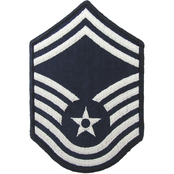 Air Force Senior Master Sergeant (SMSgt) Blue Chevron Small Rank