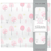 SwaddleDesigns Infant Girls Muslin Swaddle Blanket, Thicket