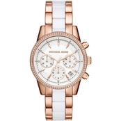 Michael Kors Women's Ritz Two Tone Chrono Watch 37mm MK6324