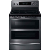 Samsung 5.9 Cu. Ct. Black Stainless Steel Flex Duo Electric Range with Dual Door