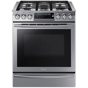 Samsung 5.8 cu. ft. Slide-In Gas Range with Intuitive Controls, Stainless Steel