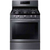 Samsung 5.8 cu. ft. Freestanding Gas Range with Convection, Black Stainless Steel