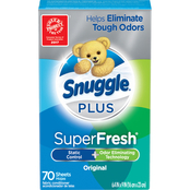Snuggle Plus SuperFresh Fabric Softener Sheets 70 Ct.