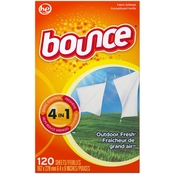 Bounce Outdoor Fresh Fabric Softener Dryer Sheets 120 ct.