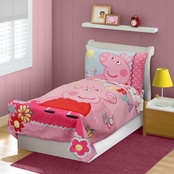 Peppa Pig Toddlers Adorable 4 pc. Bedding Set