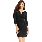 Thalia Sodi Faux Wrap Keyhole Dress
