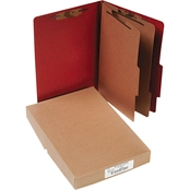ACCO Pressboard 25-Pt Classification Folders, Legal, 6-Section, 10/Box