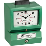 Acroprint Model 125 Analog Manual Print Time Clock with Mo./Date/0-23 Hrs/Mins.