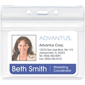 Advantus Horizontal Resealable ID Badge Holder, 50 Pk.
