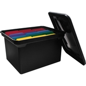 Advantus File Tote Storage Box with Lid
