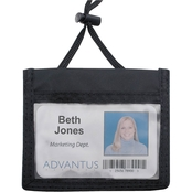 Advantus Horizontal ID Badge Holder with Convention Neck Pouch, 12 Pk.