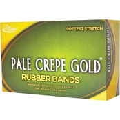Alliance Pale Crepe Gold Rubber Bands, 1 lb. Box